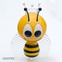 LED нощна лампа за контакт BEE 0.4W RGB със сензор 220V  Lightex