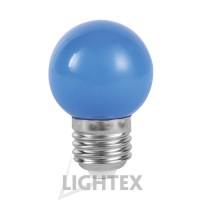LED лампа  синя 1W 220V P45 E27  Lightex