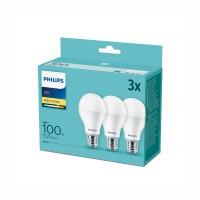 Philips Led лампа 13W A67 E27 1521lm 2700K 15000h матирана 3бр/опаковка