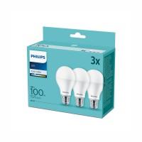 Philips Led лампа 13W A67 E27 1521lm 4000K 15000h матирана 3бр/опаковка