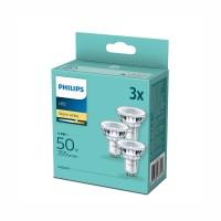 Philips Led лампа 4.6W GU10 36D 355lm ALU 2700K 15000h 3бр/опаковка