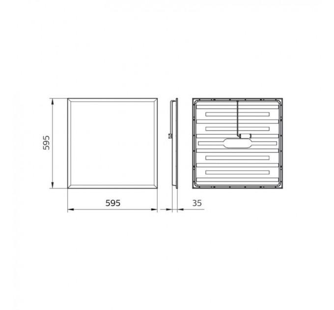 Philips LED панел RC065B LED34S/840 PSU W60L60 NOC Ledinaire