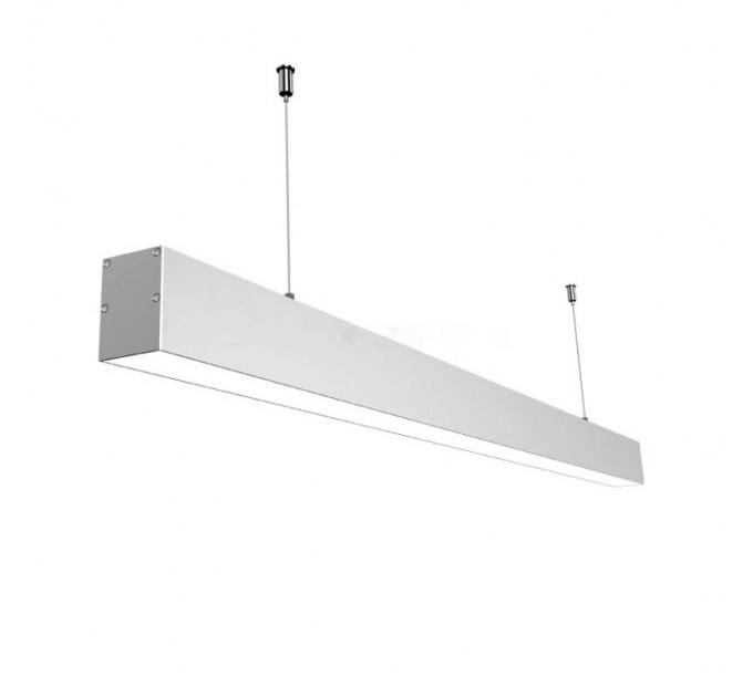 LED осветително тяло висящо с проволки SINGLE II 48W 4000K 1200мм сиво Lightex