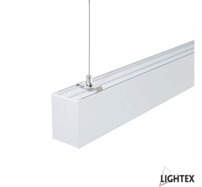 LED осветително тяло висящо с проволки SINGLE II 48W 4000K 1200мм бяло Lightex