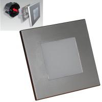 LED луна за вграждане в стена STEP LIGHT 1W 4000K 48302 сребро EMITHOR