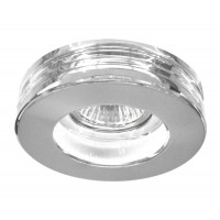 Луна  стационарна кръгла прозрачно стъкло с метал MR16 Lightex