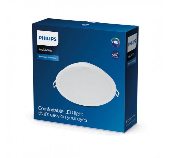 Philips LED луна за вграждане MESON 24W 6500K 2500lm 220V ф200мм бяла