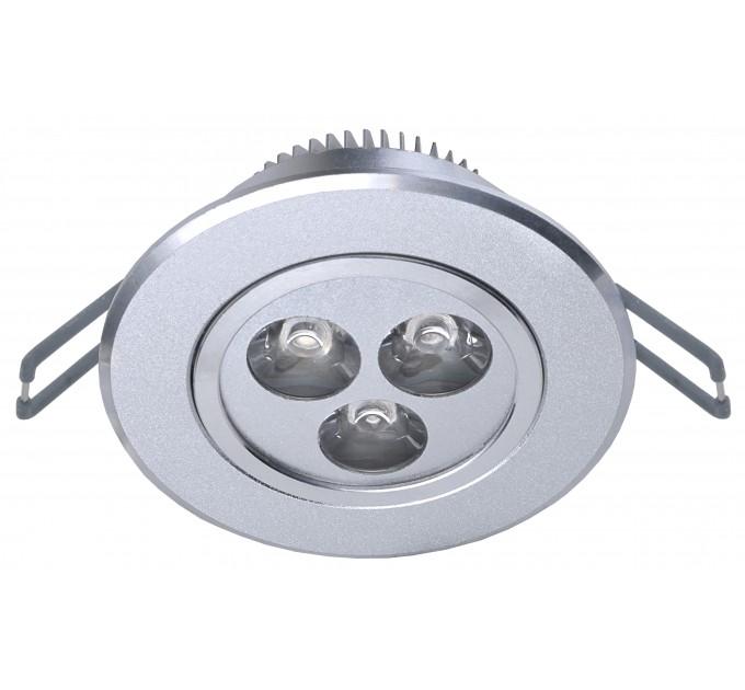 LED луна 3x1W сатен никел WW топло бяла светлина 3300K с трансформатор Lightex