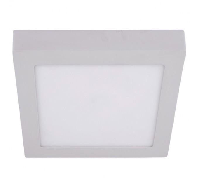 LED луна бяла  открит монтаж 220V 24W IP40 120D 300х300 квадратна 4000K Lightex