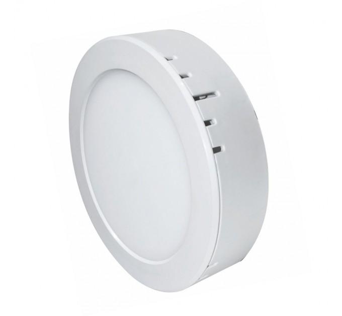 LED луна бяла  за скрит и открит монтаж 220V 6W Ф105 4000K Lightex