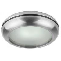 Влагозащитена луна WP/MR16-44 алуминиева с матирано стъкло сатен никел MR 16 IP44  Lightex