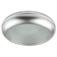 Влагозащитена луна WP/MR16-44 алуминиева с матирано стъкло  сатен хром MR 16 IP44 Lightex