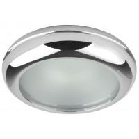 Влагозащитена луна WP/MR16-44 алуминиева с матирано стъкло хром  MR 16 IP44 Lightex