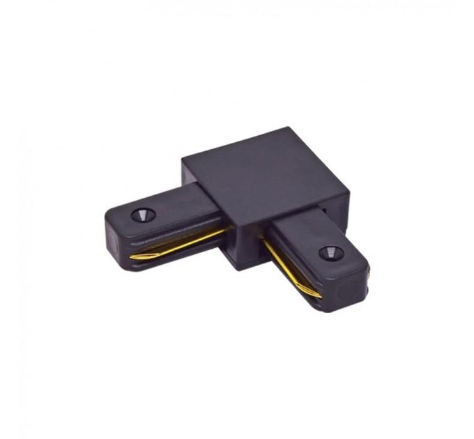 Конектор за монофазна шина ъглов черен LINK-L
