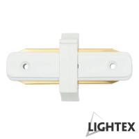 I CONNECT прав съединител бял за монофазна шина 2Рins Lightex