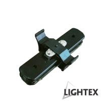 I CONNECT прав съединител черен за монофазна шина 2Рins Lightex