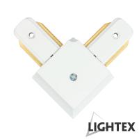 L CONNECT ъглов съединител бял за монофазна шина 2Рins Lightex
