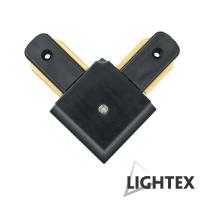 L CONNECT ъглов съединител черен за монофазна шина 2Рins Lightex