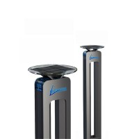 LED соларен светещ стълб 1W син +3W бял H60cm IP65 батерия 3.7V 2.6AH Lightex