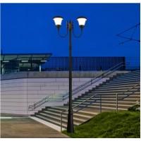 LED Соларен градински стълб PIERRE 2x6W 4000K IP65 2.6м Lightex