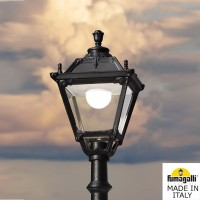 Градински фенер NEBO/TOBIA черен Е27 LED 30W 4000K H3000mm IP55 Fumagalli