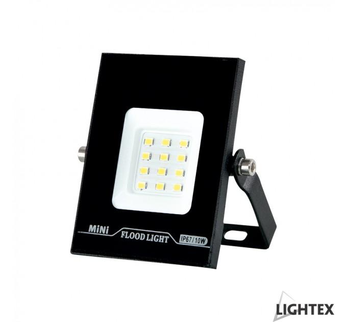 LED прожектор черен  MINI II 220V 10W IP65 CW 6500K Lightex