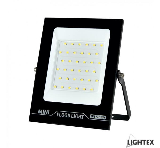 LED прожектор черен  MINI II 220V 30W IP65 CW 6500K Lightex