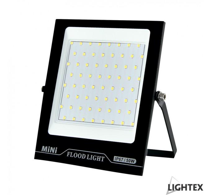 LED прожектор черен  MINI II 220V 50W IP65 CW 6500K Lightex