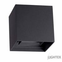 LED фасаден осветител AXEL 2x3W COB LED 6500K 220V IP54 120D 101x101x105mm графит Lightex
