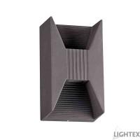 LED фасаден осветител HUGO 6W COB LED 6500K 220V IP54 120D 141x80x67mm графит Lightex
