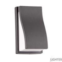LED фасаден осветител LINO 5W COB LED 6500K 220V IP54 120D 141x81x88mm графит Lightex