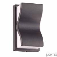 LED фасаден осветител LINO 6W COB LED 6500K 220V IP54 120D 141x80x68mm графит Lightex