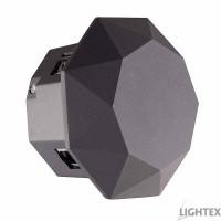 LED фасаден осветител RAFI 6W COB LED 6500K 220V IP54 120D Ф126x80mm графит Lightex