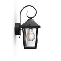 Philips Градински фенер BUZZARD E27 max10W LED IP44 черен