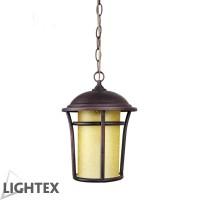 Градински фенер LEO P/RUST E27 IP44 203x305mm Lightex