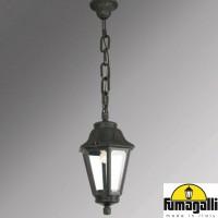 Градински фенер SICHEM/ANNA черен висящ Е27 IP55 Fumagalli