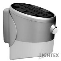 LED соларен аплик сив със сензор 2W 3000K IP65  Lightex