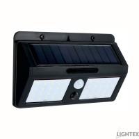 LED соларен аплик 6W 6500K черен със сензор IP55 Lightex