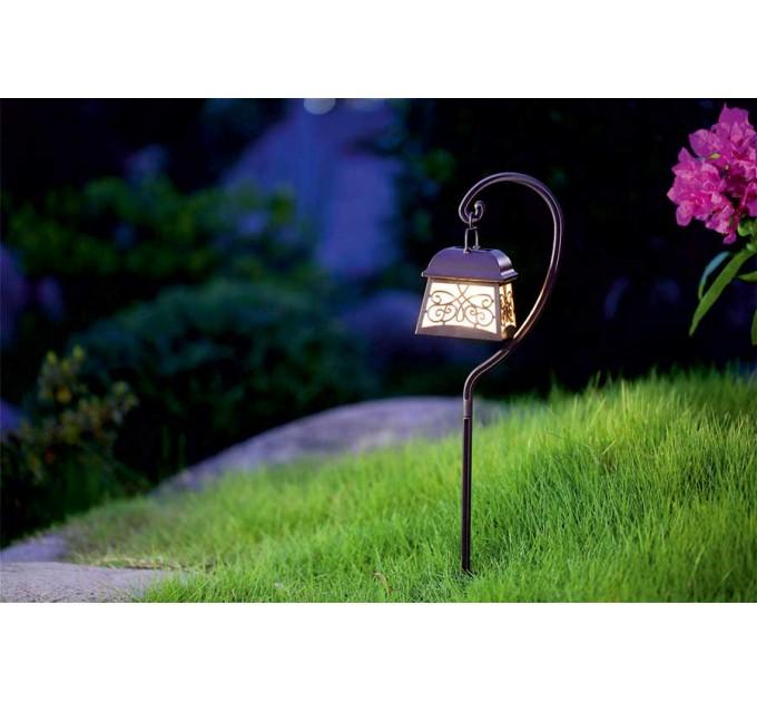 LED соларен фенер за земя PAST 0.16W 3000K IP44 батерия АА 400mAh 2бр. к-кт Lightex