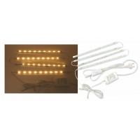 LED лента 4*0.7W 3000K Real