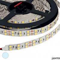 LED лента 3528 240бр/м 12VDC 19.2W/метър IP20 120D студено бял Lightex /опаковка- 5м./