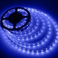 LED лента 3528 60бр/м 12VDC 4.8W/метър IP44 120D синя 1м. Lightex