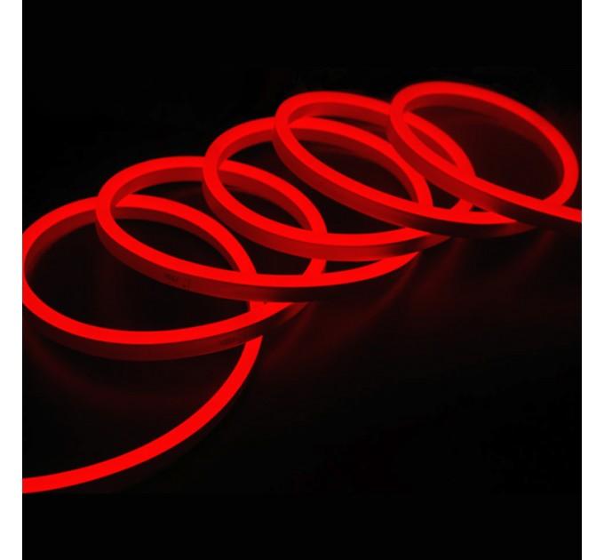 LED Светещ кабел 2835 color 120LED/метър 6W/метър 6x12мм червен IP65 5м със захранване Lightex
