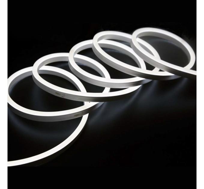 LED Светещ кабел 2835 color 120LED/метър 6W/метър 6x12мм студено бял IP65 5м със захранване Lightex