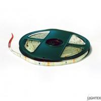 LED лента 3528 60бр/м 12VDC 4.8W/метър IP44  дневно бяла силиконово покритие Lightex- 5м.
