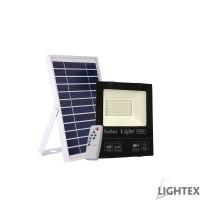 LED SMD 5730 прожектор 60W 5000K 1800lm IP65 със соларен панел сменяема батерия 3.2V/15Ah дистанционно Lightex