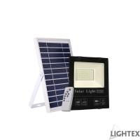 LED SMD 5730 прожектор 100W 5000K 2500lm IP65 соларен панел сменяема батерия 3.2V/20Ah дистанционно Lightex