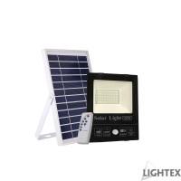 LED SMD 5730 прожектор със сензор 100W 5000K 2500lm IP65 соларен панел и дистанционно Lightex