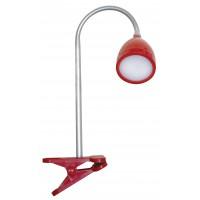 LED настолна лампа с  щипка MACAU 4W/8LED 230V червена   4000K Desonia