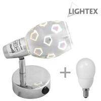 Спот ARIZONA 1xE14 с ключ с лампа Lightex